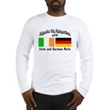 Made in america with irish and german parts Long Sleeve T-shirts