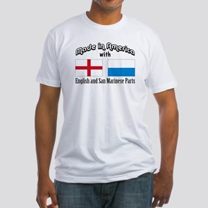 English-San Marinese Fitted T-Shirt