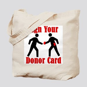 Sign Your Donor Card Tote Bag