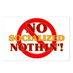 No Socialized Nothin' Postcards (Package of 8)