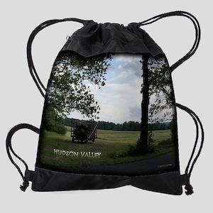 Hudson Valley Hay Field Drawstring Bag