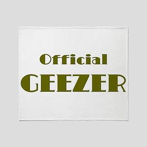 Official Geezer Throw Blanket