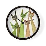 Yukon Whimsical Cats Wall Clock