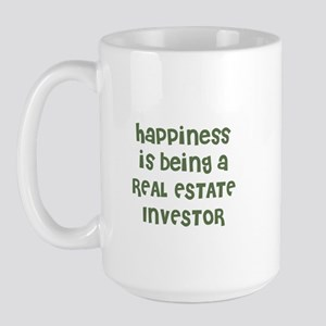 Happiness is being a REAL EST Large Mug