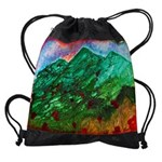 Green Mountains Drawstring Bag