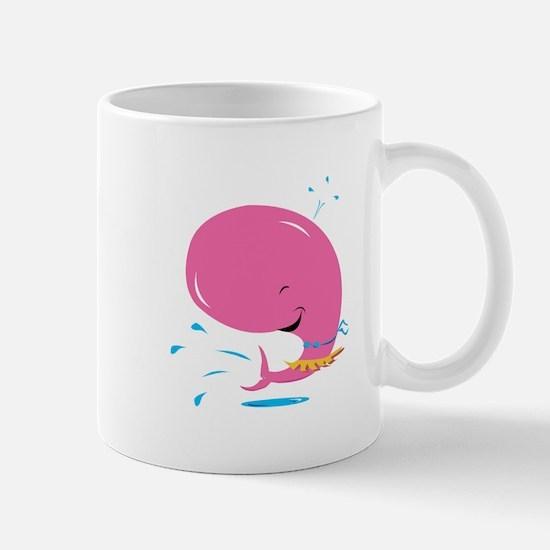 Funny Pink Whale in Bikini Mug