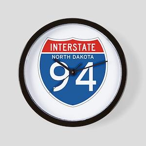 Interstate 94 - ND Wall Clock