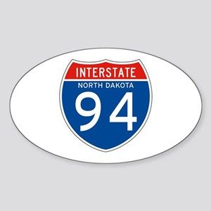 Interstate 94 - ND Oval Sticker