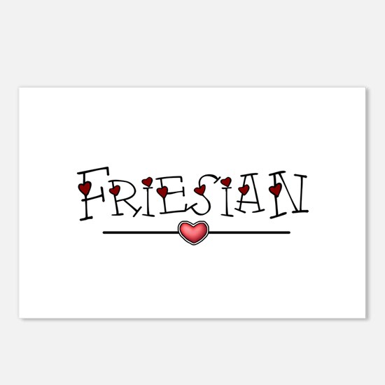 Friesian Hearts Postcards (Package of 8)