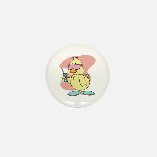 Cool Chick in Shades Mini Button