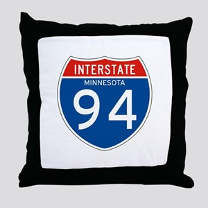 Interstate 94 - MN Throw Pillow
