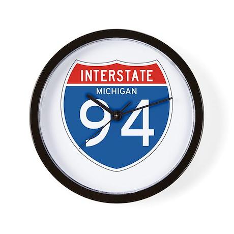 Interstate 94 - MI Wall Clock