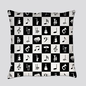 Stylish modern music notes and ins Everyday Pillow