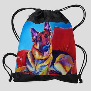 German Shepherd #5 Drawstring Bag