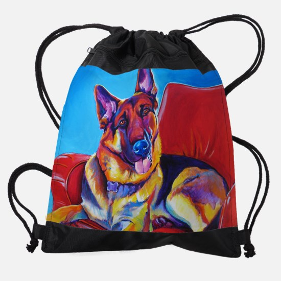 German Shepherd #5 Drawstring Bag