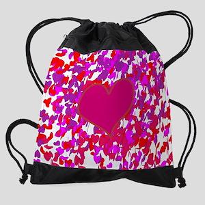 Hearts K Drawstring Bag