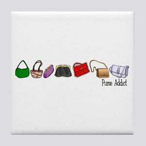 Purse Addict Tile Coaster