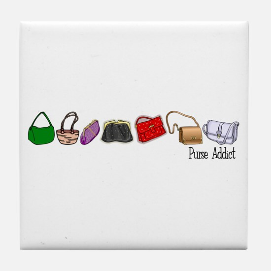 Purse Addict Tile Coaster