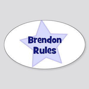 Brendon Rules Oval Sticker