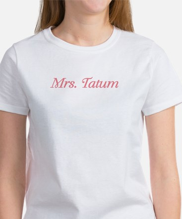 """Mrs. Tatum"" Design on a Women's T-Shirt"