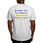Ash Grey T-Shirt Organ Donor Fundraising