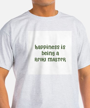 Happiness is being a REIKI MA Ash Grey T-Shirt