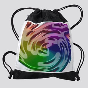 Rainbow Spin M Drawstring Bag