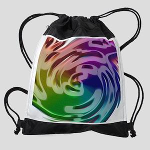 Rainbow Spin K Drawstring Bag