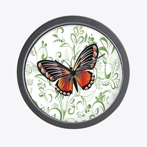Whimsical Butterfly Wall Clock