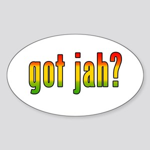 got jah? Oval Sticker