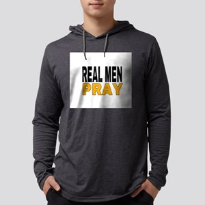 REAL MEN PRAY Mens Hooded Shirt