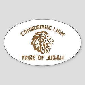 LION of JUDAH Oval Sticker