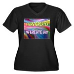 CREATE ART Plus Size T-Shirt