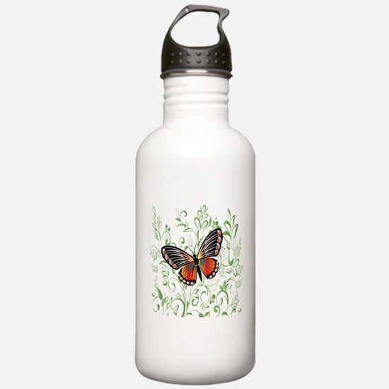 Whimsical Butterfly Sports Water Bottle