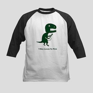 T-Rex Loves To Pick Kids Baseball Jersey
