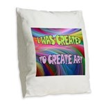 CREATE ART Burlap Throw Pillow