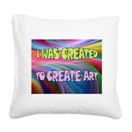 CREATE ART Square Canvas Pillow
