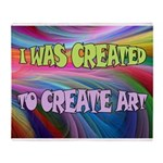 CREATE ART Throw Blanket