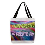 CREATE ART Polyester Tote Bag