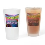 CREATE ART Drinking Glass