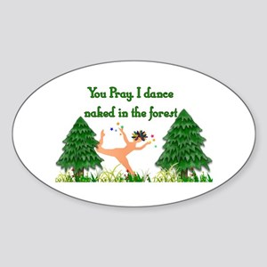 Naked Pagan Oval Sticker