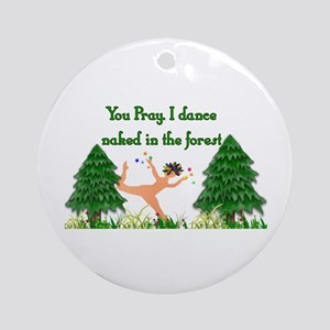Naked Pagan Ornament (Round)