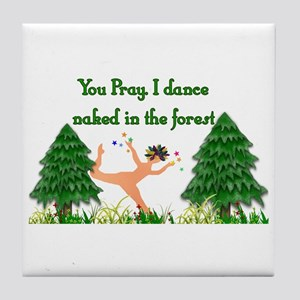 Naked Pagan Tile Coaster