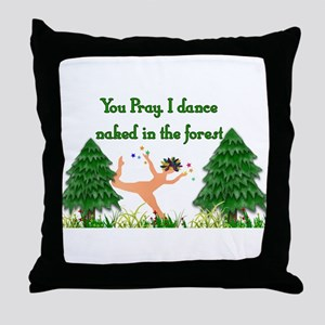 Naked Pagan Throw Pillow