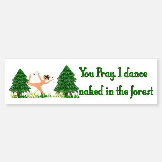 Naked Pagan Bumper Bumper Bumper Sticker