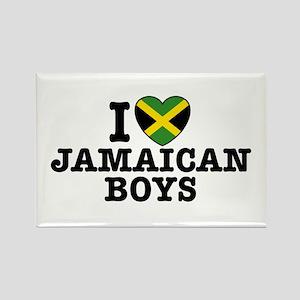 I Love Jamaican Boys Rectangle Magnet
