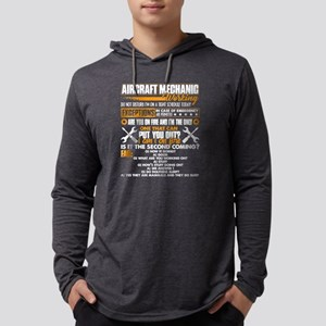 AIRCRAFT MECHANIC WORKING SHIRTS Mens Hooded Shirt