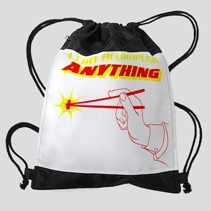 I Can Accomplish Anything Drawstring Bag