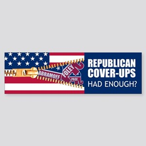 REPUBLICAN COVER-UPS Bumper Sticker