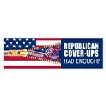 REPUBLICAN COVER-UPS Bumper Sticker